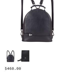 Martella Bags - Sleek Sexy Designer Little Black Leather Backpack 622a1f9469218